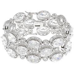 CZ by Kenneth Jay Lane Oval-Cut Bracelet