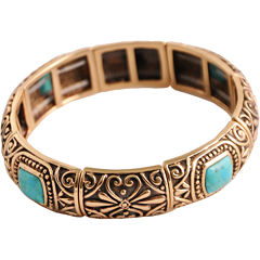 Art Smith by BARSE Turquoise Stretch Bangle