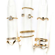 Decree Womens White Stackable Ring