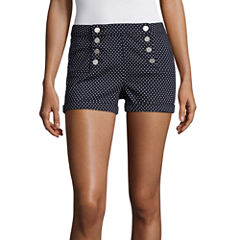 Almost Famous Polka Dot High-Rise Sailor Shorts-Juniors