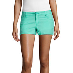 City Streets Poplin Chino Shorts-Juniors