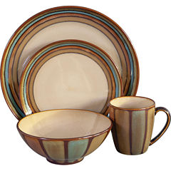 Sango Flair 16-pc. Reactive Glaze Dinnerware Set
