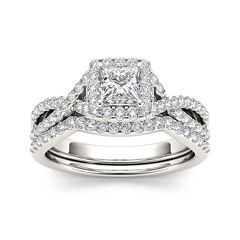 tw diamond 14k white gold bridal set - Jcpenney Wedding Ring Sets