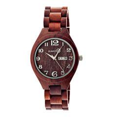 Earth Wood Sapwood Unisex Red Bracelet Watch-Ethew1603