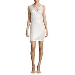 City Triangle Sleeveless Bodycon Dress-Juniors