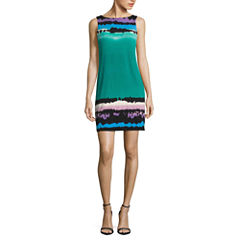 Nicole By Nicole Miller Sleeveless Tie Dye Shift Dress