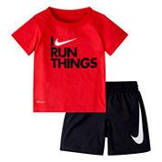Nike Boys Short Sleeve Short Set