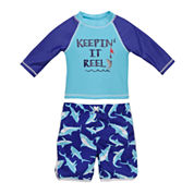 Candlesticks Rash Guard Set - Baby