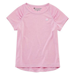 Champion Short Sleeve Crew Neck T-Shirt-Preschool Girls