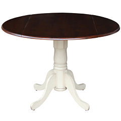 Dual Drop Leaf Round Dining Table