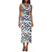 Black Label by Evan-Picone Sleeveless Print Blouse or Print Maxi Skirt