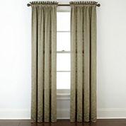 Royal Velvet® Hilton Embroidery Rod-Pocket Curtain Panel