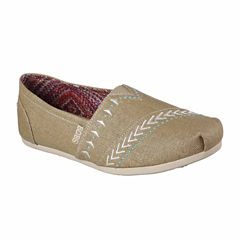 Skechers Bobs Plush Feather Womens Slip-On Shoes