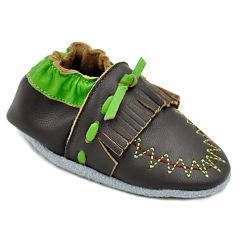Momo Baby Moccasin Boys Crib Shoes-Baby