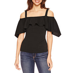 Bisou Bisou Off Shoulder Draped Top