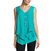 Alyx Sleeveless V Neck Gauze Blouse