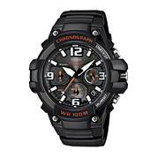 Casio® Mens Black Resin Strap Chronograph Watch MCW100-1AV