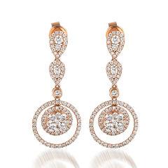 Le Vian Grand Sample Sale  1 3/8 CT. T.W. Vanilla Diamond 14K Strawberry Gold Earrings