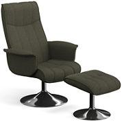 Charlie Recliner Chair & Ottoman Set