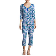 Warm Milk by Bedhead 3/4-Sleeve Top and Capris Pajama Set