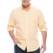 IZOD® Long-Sleeve Mini-Check Woven Shirt - Big & Tall