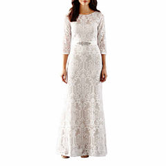 Melrose 3/4 Sleeve Evening Gown