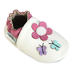 Momo Baby Daisy & Butterfly Girls Crib Shoes-Baby