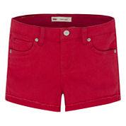 Levi's Twill At Waist Shortie Shorts - Big Kid Girls