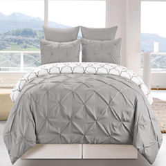 DUCK RIVER 3-pc. Esy Reversible Pintuck Duvet Set
