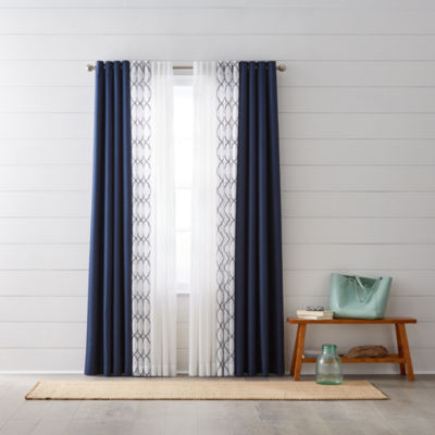 JCPenney Home Quinn U0026 Bayview Sheer Grommet Top Curtain Panels