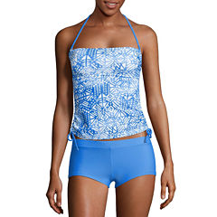 Arizona Mix & Match Side Tie Bandeaukini Swim Top - Juniors