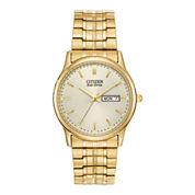 Citizen® Eco-Drive® Mens Gold-Tone Dress Watch BM8452-99P