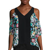 nicole by Nicole Miller® 3/4-Sleeve Cold-Shoulder Top