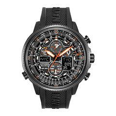 Citizen® Eco-Drive® Navihawk A-T Mens Black Chronograph Watch JY8035-04E
