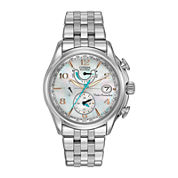 Citizen® Eco-Drive® World Time A-T Womens Silver-Tone Watch FC0000-59D