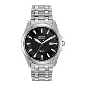 Citizen® Eco-Drive® Mens Black Dial Stainless Steel Watch BM7100-59E