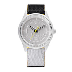 Q&Q SmileSolar White/Black Sport Strap Watch