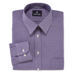Stafford® Long-Sleeve Travel Performance Athletic Fit Broadcloth Dress Shirt