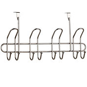 Home Basics 8-Hook Satin Nickel Over-the-Door Hanger