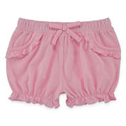 Okie Dokie® Solid Bubble Shorts - Baby Girls newborn-24m