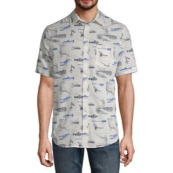 St John Bay Mens Short Sleeve Button front Shirt