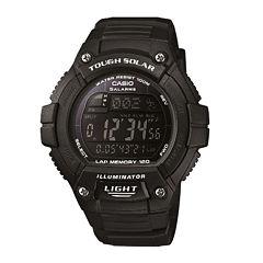Casio® Solo Runner Mens Black Multifunction Watch WS220-1BV