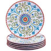 Certified International Tuscany Melamine Set of 6 Salad Plates