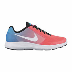 Nike Revolution 3 Girls Running Shoes - Big Kids