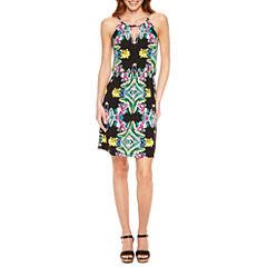 Nicole By Nicole Miller Sleeveless Blouson Dress