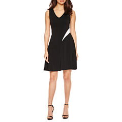 Nicole By Nicole Miller Sleeveless Fit & Flare Dress