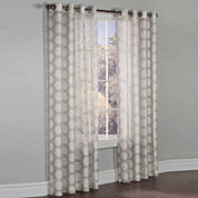 Madison Burnout Grommet-Top Sheer Curtain Panel