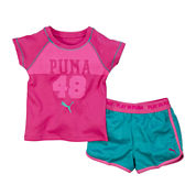 Puma® Tee and Active Shorts Set - Preschool Girls 4-6x