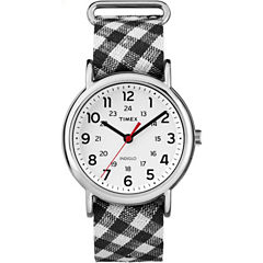 Timex Weekender Womens Black Strap Watch-Tw2r24300