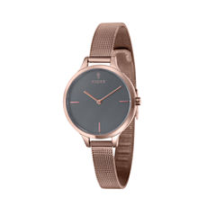 Fjord Mesh Band Womens Rose Goldtone Expansion Watch-Fj-6027-66